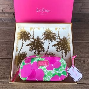 Lily Pulitzer Lacquer Tray with Cosmetic Bag